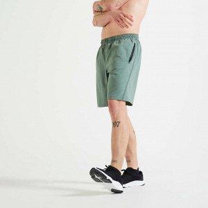 Шорты для фитнеса и кардиотренировок мужские зеленые 120