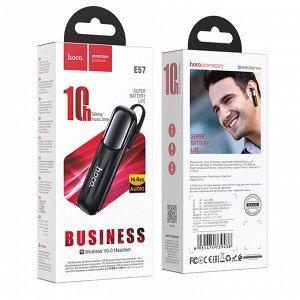 Беспроводная гарнитура наушник HOCO E57 Essential, Bluetooth, 170 мАч, черный, Hands-free