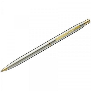 "Ручка подар. шариковая ""Luxor Sterling"" 1.0 мм синяя, корпус хром+золото арт. 8210"