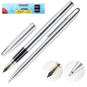 """Ручка шариковая Luxor """"Dyna"""" синяя, 1,0мм, корпус хром, кнопочный механизм 8155 арт. 8155"""