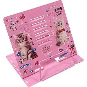 "Подставка для книг ""deVente Purr Meow"" металл.розовая с рисунком арт. 8063001"