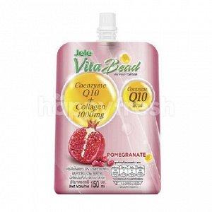 «JELE VITA BEAD» Желе фруктовое с соком граната, коэнзимом Q10 и коллагеном, 150 гр.
