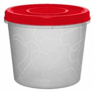 Емкость для продуктов с завинчивающейся крышкой 0,7 л сочный томат