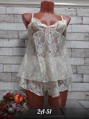 Пижама женская. Состав: Кружевной