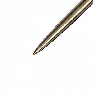 Ручка шариковая Parker Jotter Core K691 Stainless Steel GT M, корпус из нержавеющей стали, серебристый глянцевый (золото), синие чернила (1953182)
