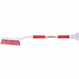 Щётка от снега со скребком SKYWAY, 88 см, с эргономичной ручкой, с распушенной щетиной S07801024