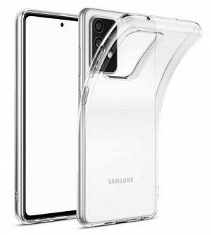 Силиконовый прозрачный чехол на телефон Samsung
