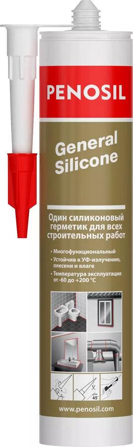 Герметик 100% силиконовый PENOSIL GENERAL SILICONE прозрачный