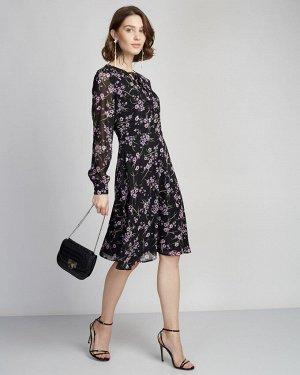 Платье жен. (006361)черный-фиолетовый
