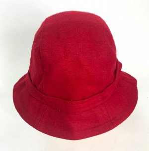 Красная шляпа с небольшими полями и бантом  №1364