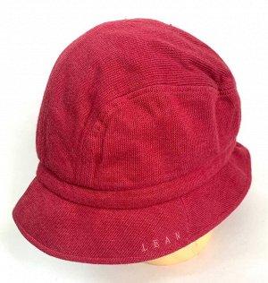 Трикотажная панама красного цвета  №1363