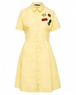 Платье жен. (120727)желтый