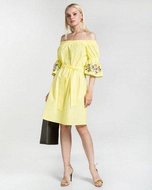 Платье жен. (120740)желтый