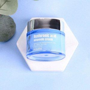 Крем для лица с гиалуроновой кислотой Zenzia  Hyaluronic acid ampoule cream 70 мл (поврежденный короб), ,