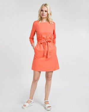 Платье жен. (171547)оранжево-красный