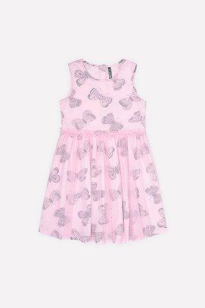 Платье(Весна-Лето)+girls (нежно-розовый, бабочки)