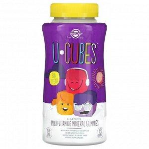 Solgar, U-Cubes, жевательные конфеты для детей с мультивитаминами и микроэлементами, вишня и апельсин, 120 шт.