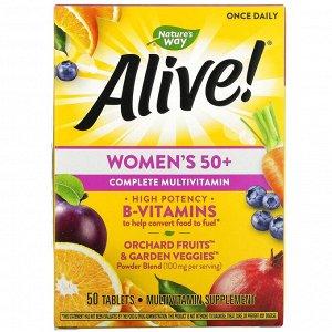 Nature's Way, Alive! полноценный мультивитаминный комплекс для женщин старше 50 лет, 50 таблеток
