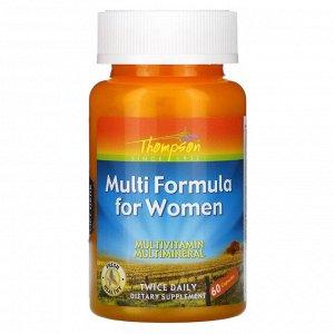 Thompson, Мульти-формула для женщин, 60 капсул