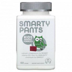 SmartyPants, формула с минералами для детей, ягодная смесь, 60 жевательных таблеток