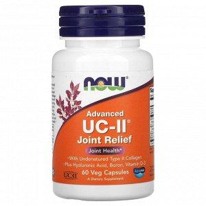 Now Foods, UC-II с усовершенствованной рецептурой, для укрепления суставов, 60 растительных капсул