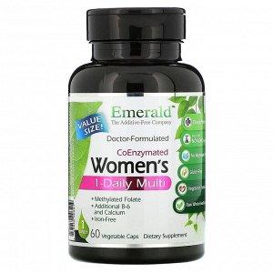 Emerald Laboratories, коферментный мультивитаминный комплекс для женщин, прием 1 раз в день, 30 вегетарианских капсул