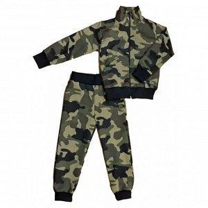 Спортивный костюм 0209/53 т.зеленый камуфляж