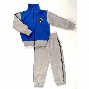 Спортивный костюм 0209/41 (меланж, василек)
