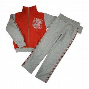 Спортивный костюм 0209/36 (красный, лампасы, рисунок)