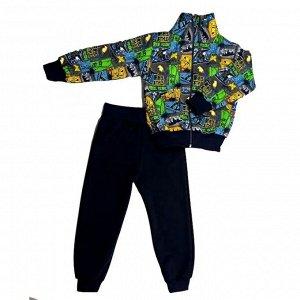 Спортивный костюм 2185/5 (цветное граффити)