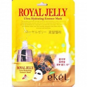 Ekel Тканевая маска с маточным молочком Royal Jelly Ultra Hydrating Essence Mask, 25 мл