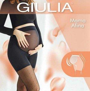 """Giul MAMA AFINA 03 колготки для беременных, узор """"сетка с мелким горошком"""" 40 ден"""