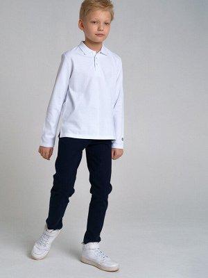 Фуфайка трикотажная для мальчиков (футболка с длинным рукавом) белый