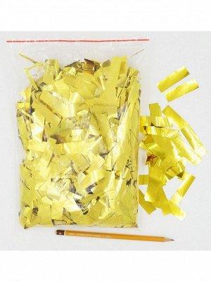 Конфетти прямоугольник 5 см фольга 500 гр цвет золотой HS-20-3