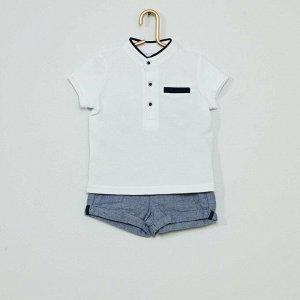 Комплект из шорт и поло Eco-conception - белый