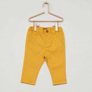 Брюки-чинос - желтый