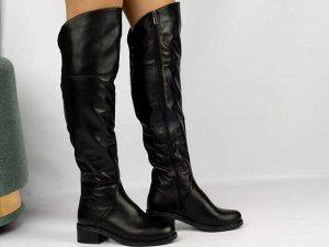 Ботфорты Тип: Ботфорты на полную ногу Материал верха: натуральная кожа Подошва - ТЭП натуральный ЕВРОМЕХ  Объем голенища 40 см в 36/37 размере, 41 см в 38/39 размере, 42 в 40/41 размере. Объем голенищ