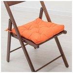 Подушка для стула 35*35 бязь(терракотовый)