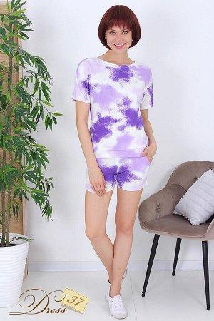 Костюм «Евгения» шорты фиолетовый