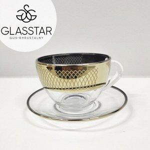 "Набор 4 предмета Glasstar ""Луиз"" 2 Кружки + 2 блюдца"