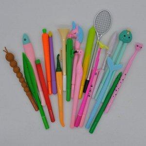Ручки гелевые различных форм (5 шт)