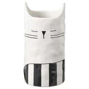 FÅTALIG ФОТАЛИГ Ваза, кот белый с оттенком12 см