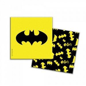 """Салфетки бумажные трехслойные 20 шт. 33*33 см """"Batman"""" желтый   тм.ND Play"""