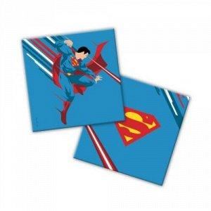 """Салфетки бумажные трехслойные 20 шт. 33*33 см """"Superman"""" синий  тм.ND Play"""