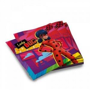 """Салфетки бумажные трехслойные 20 шт. 33*33 см """"Леди Баг и Супер-Кот""""  тм.ND Play"""