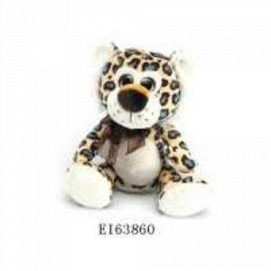 Интерактивная мягкая игрушка-повторюшка Леопард 30*20 см