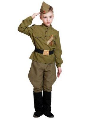 """Костюм детский """"Солдатик в сапогах (галифе)"""" рост 134-140  р. L"""