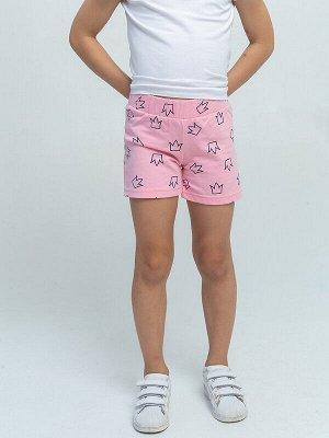 Шорты Состав: 100% Хлопок Цвет: Розовый Год: 2021 Длина выше колена, пояс на резинке. Декорированы шорты рисунком ( набивное полотно). Тип ткани-Футер 2-х нитка.