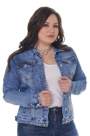 Куртка джинсовая на пуговках светло-синяя