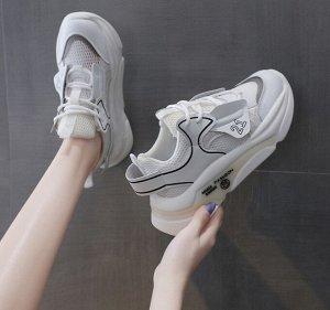 """Женские кроссовки, принт """"21"""", надпись """"Fashion"""" на подошве, цвет белый"""